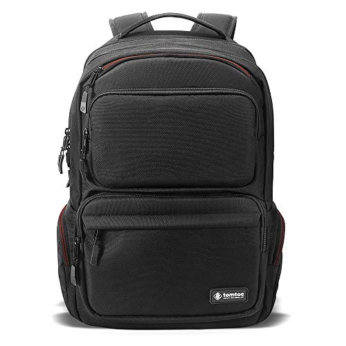 tomtoc Business Laptop Backpack, TSA Friendly Travel Computer Backpack with USB Charging Port BottomArmor Patent, Anti-Theft College School Bookbag Fits 13-15.6 inch Laptop, 30L
