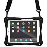 Acer Aspire Switch 10 case, COOPER TROOPER 2K Shoulder Strap Rugged Heavy Duty Tough Protective Drop Shock Proof Rubber Silicon Carry Kids Toy Work Holder Cover Bag, Stand (Black)