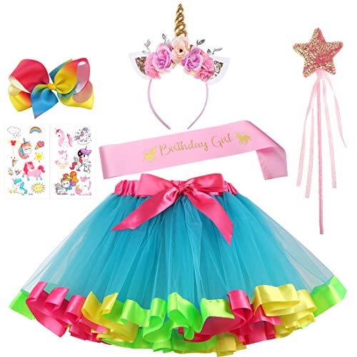 Sequin Star Wand - Unicorn Rainbow Tutu Skirt Headband Fairy