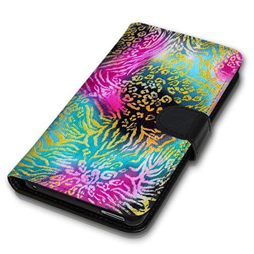 Wallet Book Style Flip Handy Tasche Case Schutz Hülle Schale Motiv Etui für Apple iPhone 6 / 6S - Design Flip MVD171
