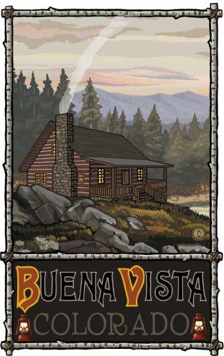 Northwest Art Mall Buena Vista Summer Hills Cabin SHC Wall Art by Paul A. Lanquist, 11-Inch by ()