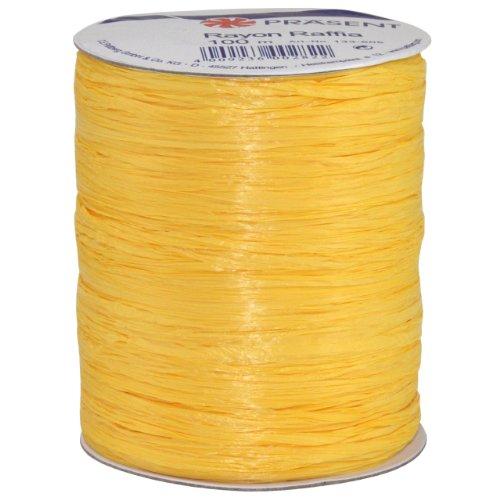(Morex Ribbon Rayon Raffia Fabric Ribbon Spool, 100-Yard, Yellow )
