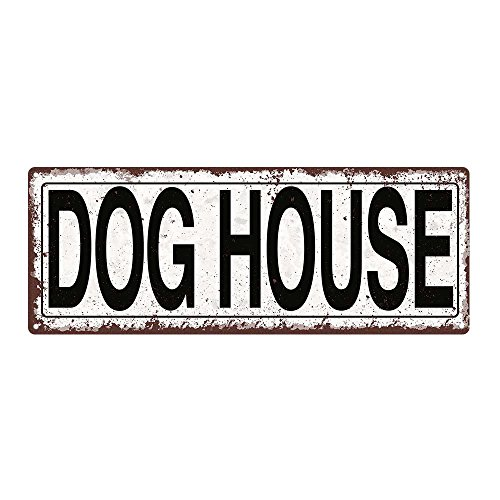 Dog House Metal Street Sign, Rustic, Vintage