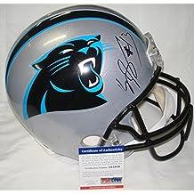 Jeff (Carolina Panthers) King Autographed Helmet - Kelvin Benjamin Full Size Replica - PSA/DNA Certified