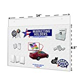 Marketing Holders 14''W x 8.5''H Clear Acrylic Horizontal Wall Mount Ad Frame/Sign Holder with Mounting Holes (Lot of 20)
