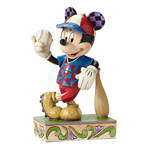 (Jim Shore Disney Traditions Batter Up Mickey Mouse Baseball Figurine 4050400)