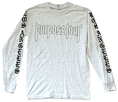 Justin Bieber Purpose World Tour 2016 Grey Long Sleeve Shirt