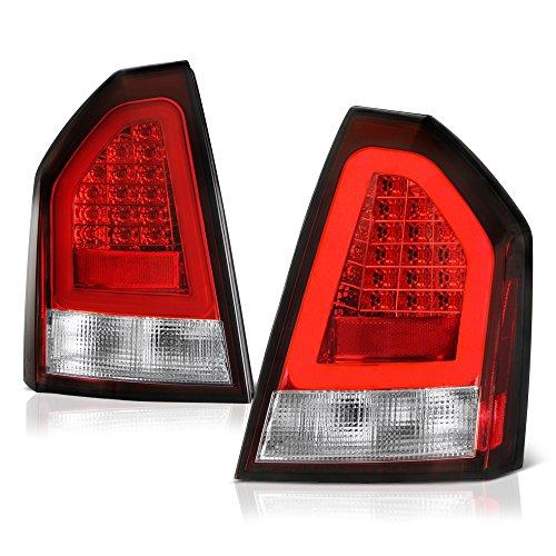 300 Led Tail Lights Lamps - [For 2008-2010 Chrysler 300C] VIPMOTOZ Premium LED Tail Light Lamp - Rosso Red Lens, Driver & Passenger Side