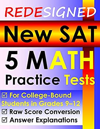 Redesigned New SAT 5 MATH Practice Tests EBook