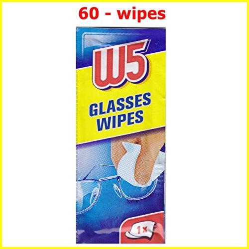 60 reinigingsdoekjes W5 Geschikt voor het reinigen van brillen, camera's, verrekijkers, autospiegels, helmvizieren…