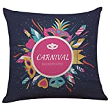Pillow Case,SUPPION Happy Halloween Linen Throw Pillow Case Cushion Cover Home Sofa Decor New (14 kinds of patterns) (M)