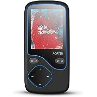 AGPTEK HiFi Reproductor MP3 Bluetooth 4.0 Conexión Inteligente, 16GB y Pantalla en Color de 1.8 Pulgadas, Radio en Modo Bluetooth con Antena, FM Grabación, Soporta Tarjeta SD hasta 128G, Negro (C5MB)