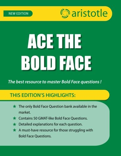 Ace the Bold Face: The best resource to master bold face questions