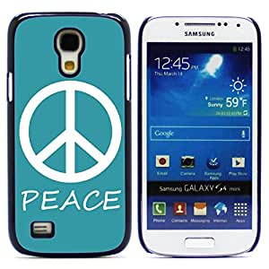 Graphic4You Peace Sign Design Hard Case Cover for Samsung Galaxy S4 Mini (Turquoise)