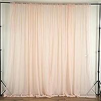 BalsaCircle 10 feet x 10 feet Sheer Voile Backdrop Drapes Curtains Panels - Blush