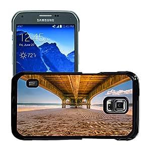 Just Phone Cases Etui Housse Coque de Protection Cover Rigide pour // M00421729 Pier playa del embarcadero de madera // Samsung Galaxy S5 Active SM-G870A (Not Fit S5)