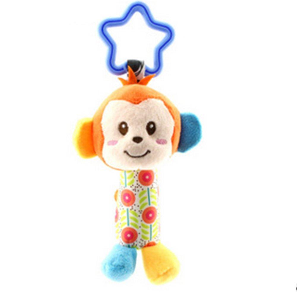 Baby sonaglio campane, iSuper peluche sonaglio giocattolo mano campane bambino giocattolo passeggino giocattolo per Baby 3mesi (Scimmia)
