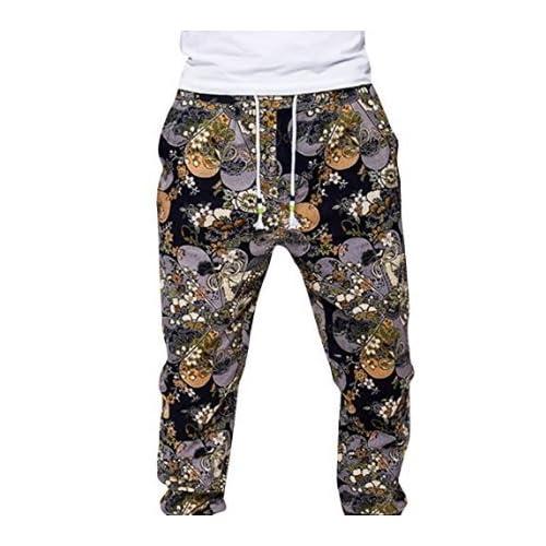 Babysbreath Pantalons de survêtement pour hommes Bohemia Retro Fermé Bottom Loose Casual Jogger Pantalons Pantalons