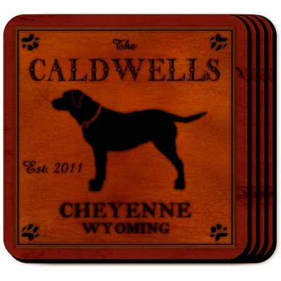 Personalized Gift Cabin Series Coaster (Set of - Series Cabin Coaster Set