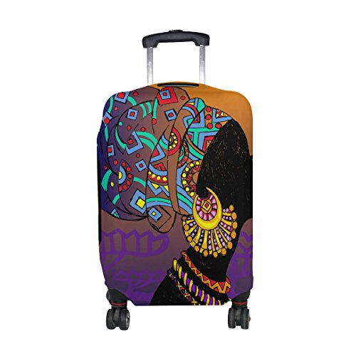Cooper girl Tribe African Woman Travel Luggage Cover Suitcase Protector Fits 31-32 Inch