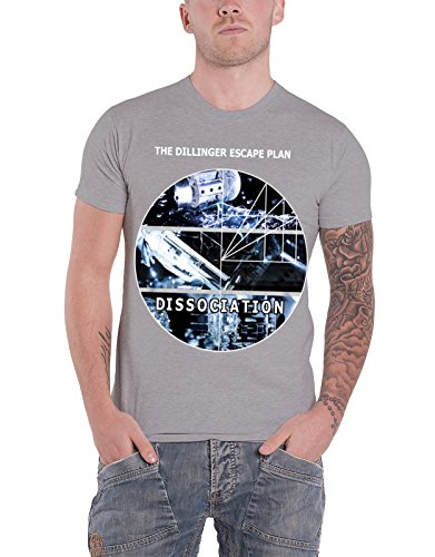 Dillinger Escape Plan T Shirt Dissociation Circle Logo Official Mens Grey Size XXL
