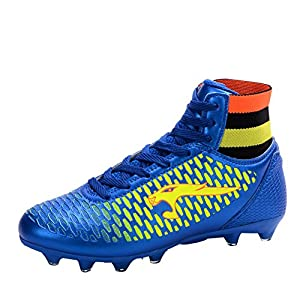 Ben Sports Kids Adults Mens Boys Cool FG/AG Football Cleat Soccer Shoes Football Boots Blue