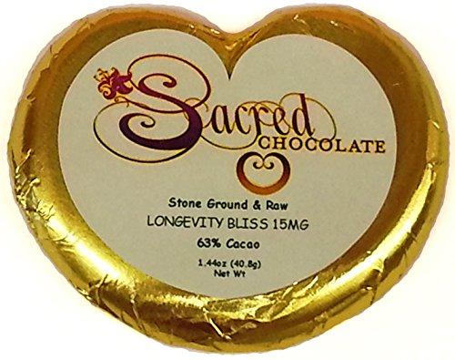 (Sacred Chocolate LONGEVITY BLISS Maple Sweetened, Stone-Ground, Organic Vegan RAW Chocolate 64% Cacao 1.44oz Bar (12 Pack))