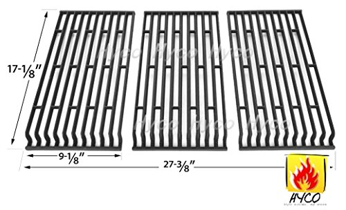 Cooking Fiesta Grills (Vicool hyG569C (3-pack) Cast Iron Cooking Grid, Cooking Grates Replacement for Fiesta Gas Grill Models Blue Ember FG50069LP, FG50069LP, FG50069NG, Fiesta FGQ65079-103, G500069-103)