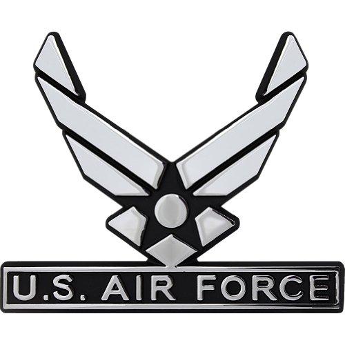 U.S. Air Force Hap Arnold Wings Chrome Auto Emblem (Air Force Emblem)