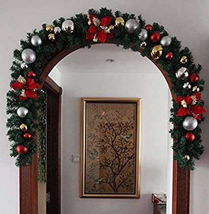 wyhui hot sale luxury 27m x 25cm thick mantel fireplace christmas garland pine tree color