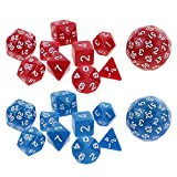 Dolity Set of 20pc Polyhedral Digital Dices for D&D RPG MTG KTV Pub Bar Fun Board Game Toy