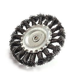 KNOTTED WIRE WHEEL Standard Wire Wheel Brush, Round Shank, Steel, Partial Twist Knotted