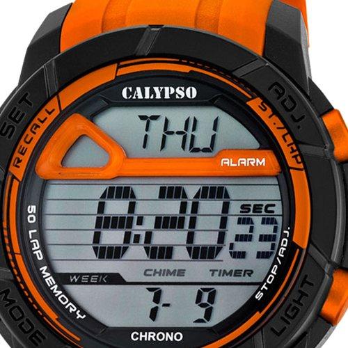Calypso Señor Reloj de pulsera cuarzo reloj reloj de plástico con Poliuretano banda de alarma Cronógrafo digital 4 tiempos de alarma todos los modelos k5697 ...