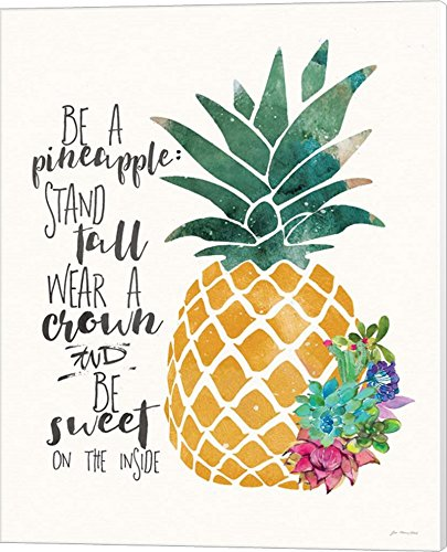 Be a Pineapple by Jo Moulton Canvas Art Wall Picture, Museum Wrapped, 16 x 20 inches