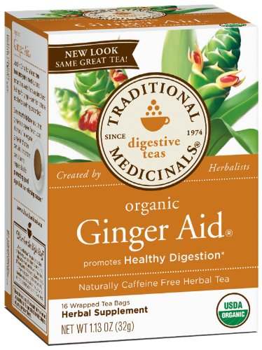 - Traditional Medicinals Organic Ginger Aid Herbal Wrapped Tea Bags - 16 ct - 2 Pack
