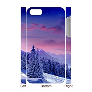 CHSY CASE DIY Design Snow Scenery Pattern Phone Case For Iphone 4/4s