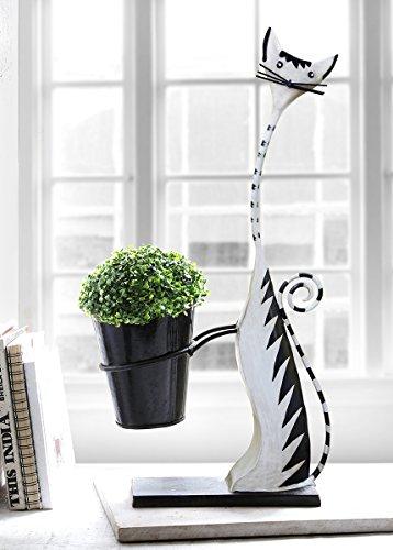 Decorative Metal Home Garden Planter Indoor Outdoor Flower Pot Distinctive Shape Style Unique Planters - Clay Stores In Terrace