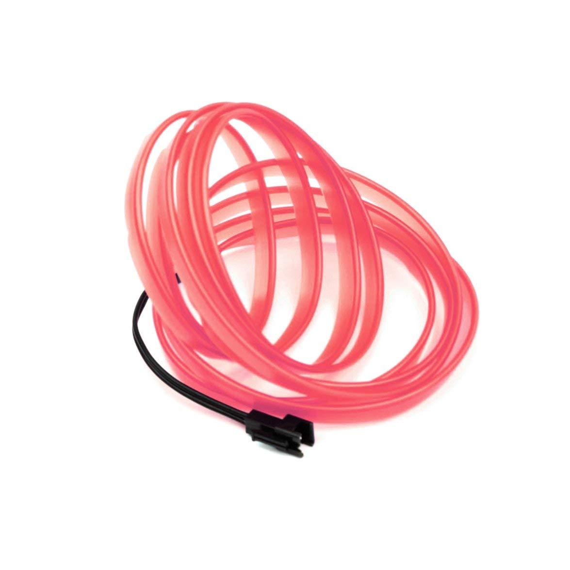Kongqiabona 1 PZ LED EL Luce Auto Veicolo Styling FAI DA TE Luce Flessibile Decorazione d'interni Stampaggio Striscia di Luce Decorazione del Partito Auto Luce (rosso 3 M)