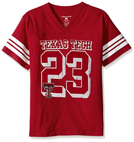 College Kids NCAA Texas Tech Red Raiders Youth Football Tee, Size 7/X-Small, Red