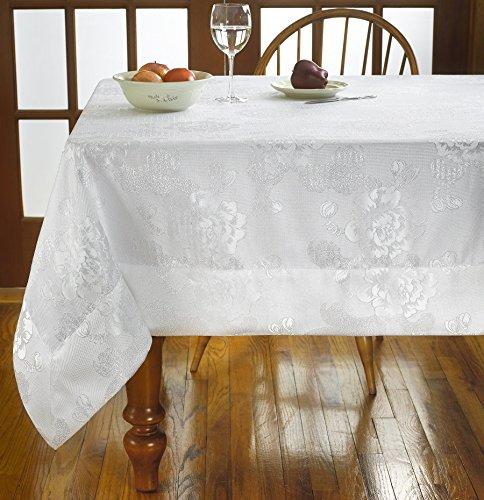 Violet Linen Elegant Premium Damask Design Tablecloths, 70