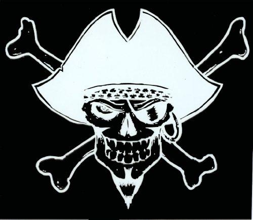 Engine House 13 - Pirate Skull - Rub On Sticker / Decal