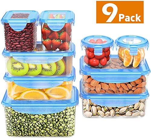 Storage Containers Airtight BPA Free Reusable