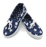 Blue Berry EASY21 Baby Toddler Girs Canvas Casual Sneaker Shoes,Denim/star82,10 M US Toddler