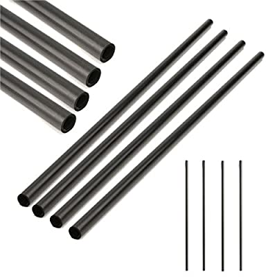 Letbo New 4pcs 330x8x6mm Carbon Fiber Tube