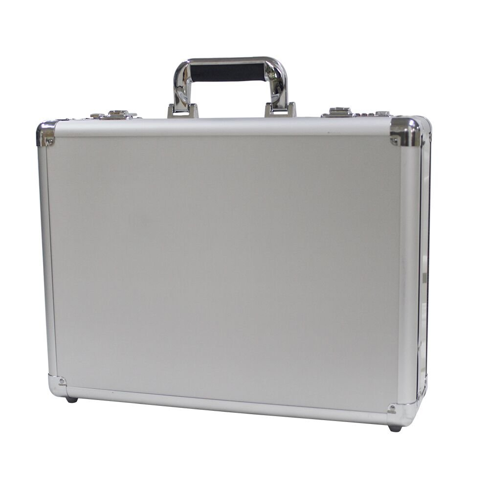Bory Aluminum Hard Case Briefcase Silver Toolbox Professional Carrying Case Aluminum Flight Cases Portable Equiment Tool Case by Bory