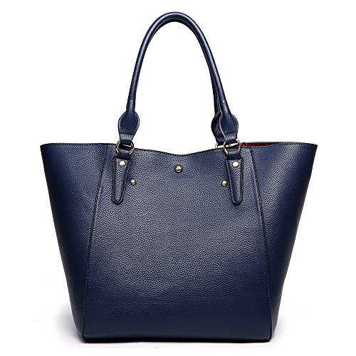 Tibes Moda impermeable bolso de hombro mujer Bolso cuero sintético B Azul