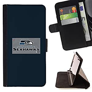 For Apple Iphone 6 PLUS 5.5 Seattle Seahawk Beautiful Print Wallet Leather Case Cover With Credit Card Slots And Stand Function