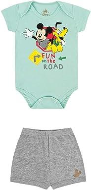 Conjunto Body e Bermuda Mickey, Baby Marlan,   Bebê Menino