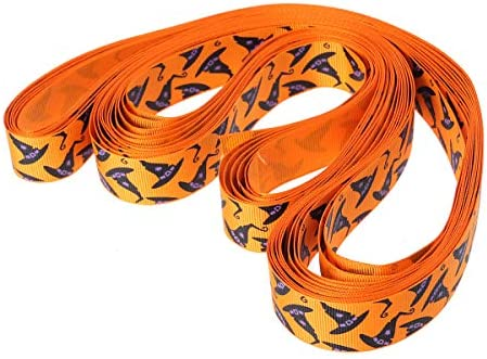 Healifty リボン グログリンリボン ハロウィン ギフトラッピングヘアボー(オレンジ)