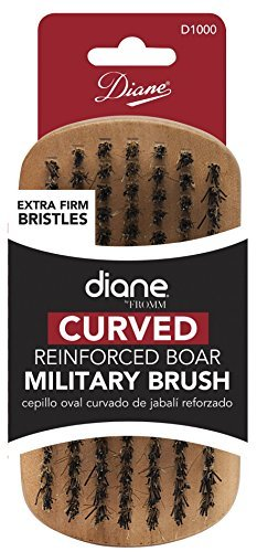Diane Fromm Curved Reinforced Boar Military Brush Extra Firm Bristles D1000
